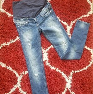 H & M Maternity Mama Skinny Jeans High Rib Size 8